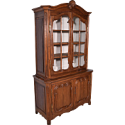 1700's Antique French Provincial China Display Cabinet/Bookcase