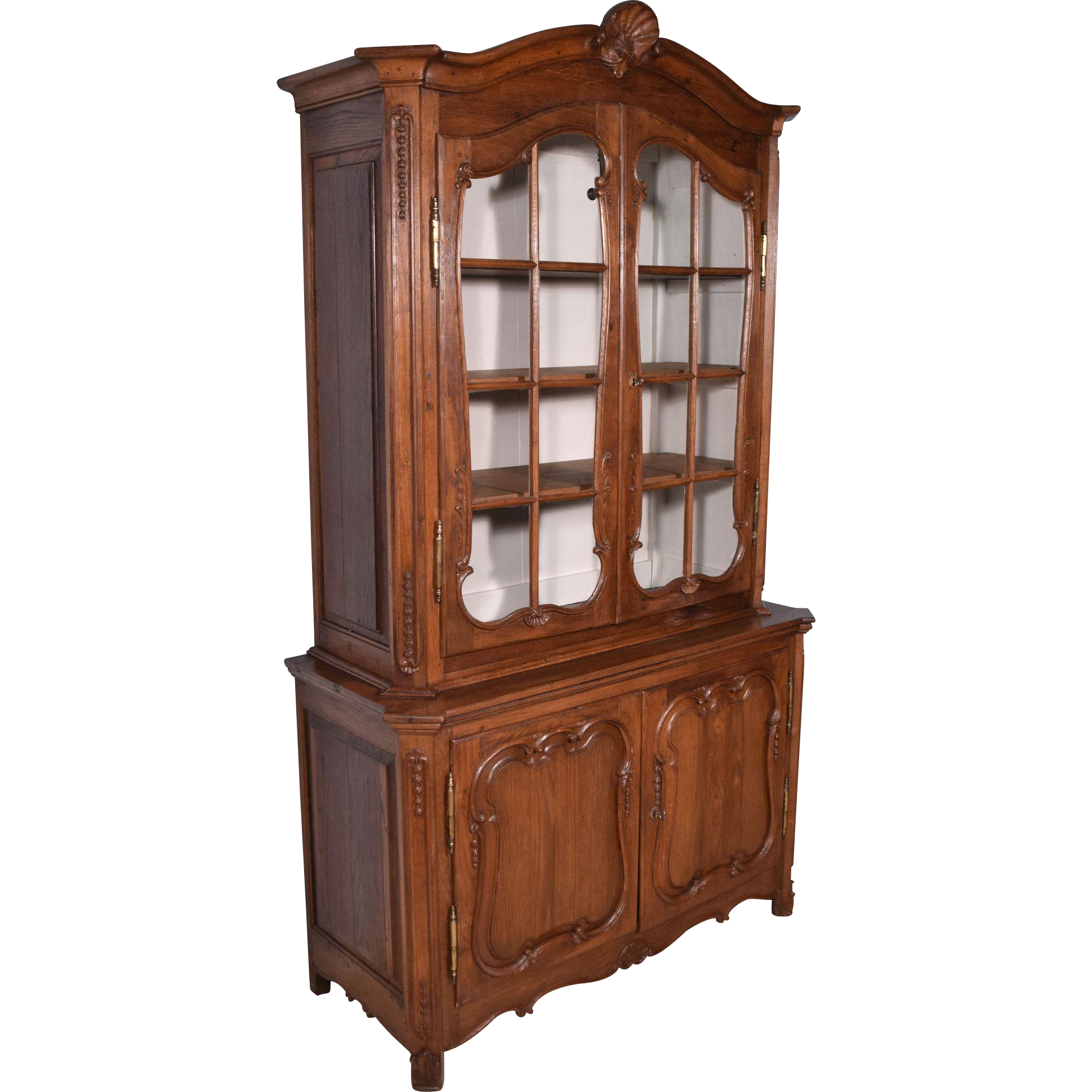 1700's Antique French Provincial China Display Cabinet/Bookcase ...