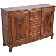 Petite Antique French Provincial Sideboard/Buffet/Console in Oak