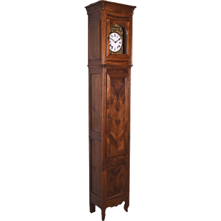 Antique French Directoire Period (1795-1804) Grandfather Clock w/ Morbier Works