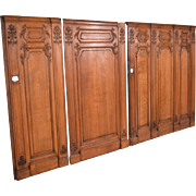 27 Feet of Antique French Boiserie/Paneling/Wainscoting in Solid Oak Wood