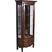 Antique French Provincial Display Cabinet/Bookcase in Oak