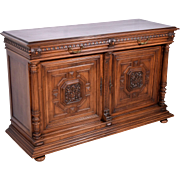 Antique French Renaissance Revival Sideboard/Buffet in Walnut