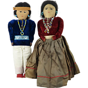 Vintage Handmade Native American Doll Couple