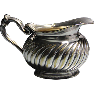 Christofle silver plated fluted cream pitcher