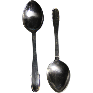 Georg Jensen beaded dessert spoon