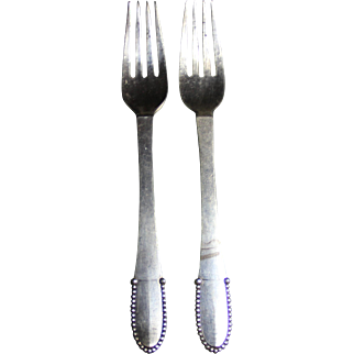 Georg Jensen beaded dinner fork