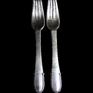 Georg Jensen beaded dinner fork
