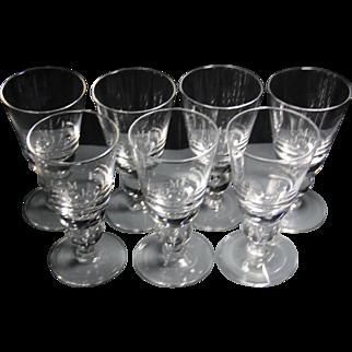 Steuben Crystal Baluster water goblets set- monogrammed