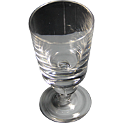 Steuben Crystal simple water goblet