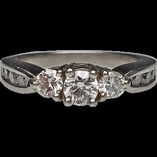 Platinum Diamond Estate Engagement Ring