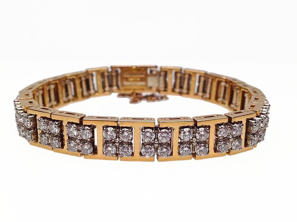 18 karat yellow and white gold diamond bracelet by jabel for Estate jewelry burlington vt