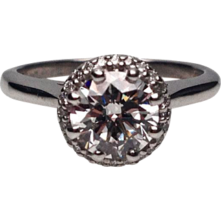 Platinum Diamond Engagement Ring By Tacori