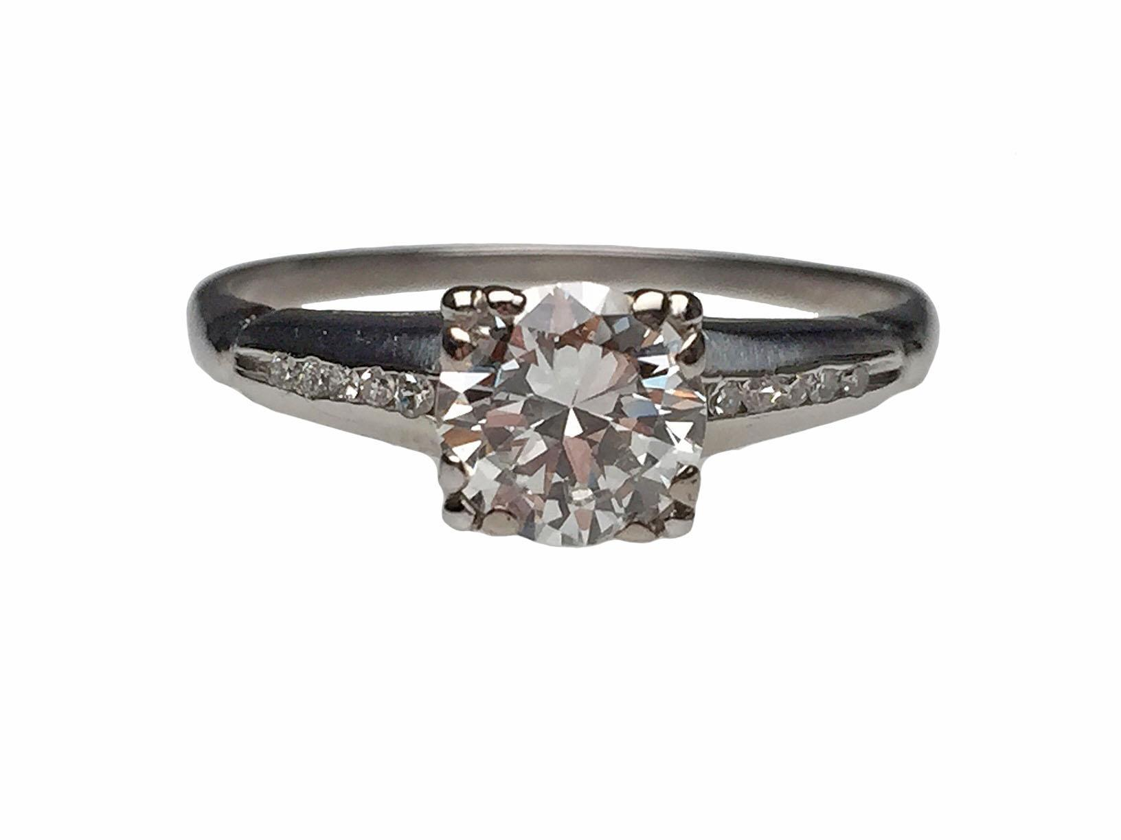 Platinum 1940 39 s diamond engagement ring from lippas estate for Estate jewelry burlington vt