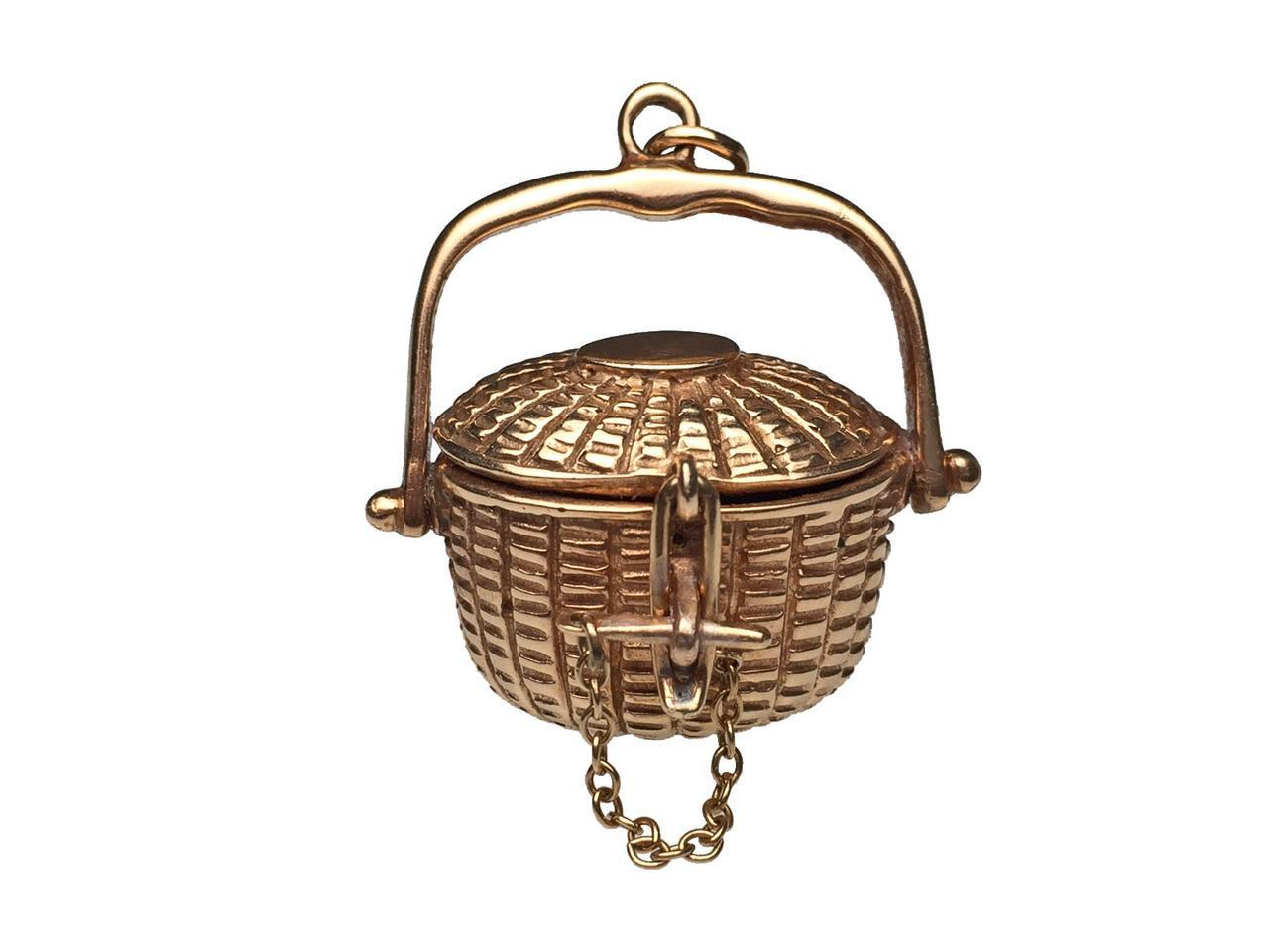 14 karat yellow gold nantucket basket from lippas estate for Estate jewelry burlington vt