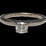 14 Karat White Gold Diamond Solitaire Ring