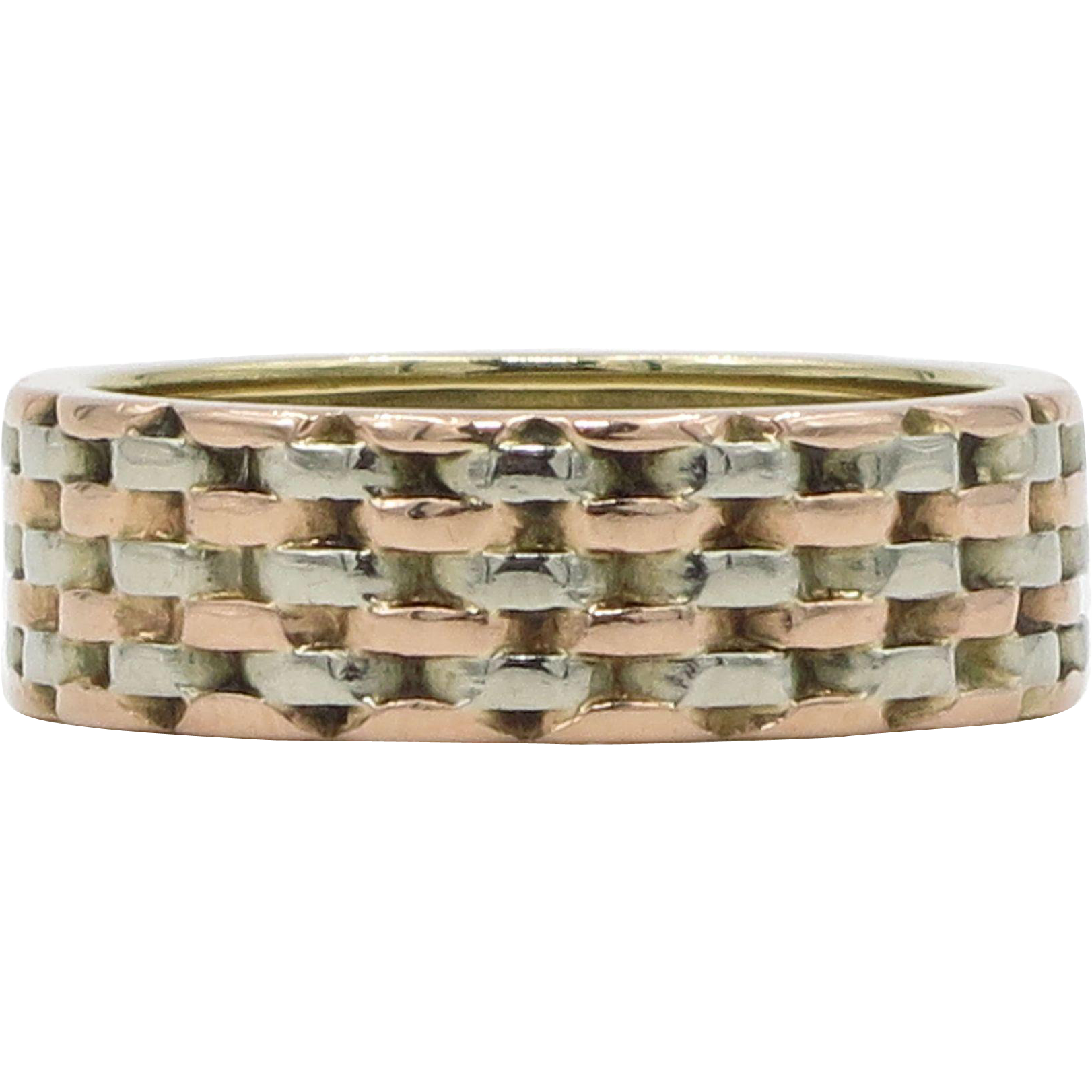14 karat white and rose gold woven ring from lippas estate for Estate jewelry burlington vt