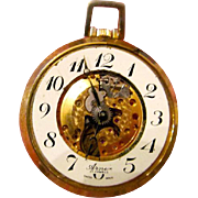 Vintage Arnex 17 Jewel Swiss Made- Manual Wind Open Face Pocket Watch with Skeleton Dial- NEEDS WORK!!