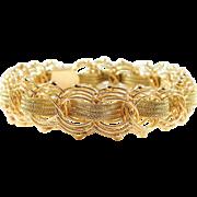 Vintage 14k Gold Woven Bracelet