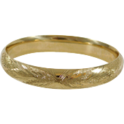 14k Yellow Gold Bangle Bracelet with Brilliant Design