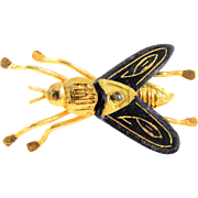 Unique Vintage Gold Fly Pin