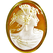 14k Gold Antique Cameo Brooch/Pendant