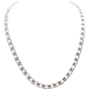 Vintage 6.5mm, 18-inch Sterling Silver Figaro Chain