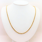 14k Yellow Gold, 4mm, 24inch Rope Chain