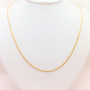 14k Yellow Gold, 2mm, 24inch Rope Chain