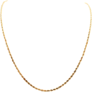 2.3mm 14k Gold 24 Inch Rope Chain