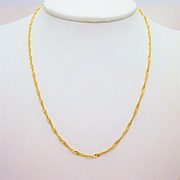 Italian Crafted 16 Inch Diamond-Cut Twisted Link Chain