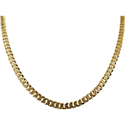 14 karat Yellow Gold 4mm, 18 inch Fancy S-Link Chain