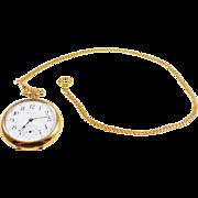 14k Gold Cuban Link Pocket Watch Chain