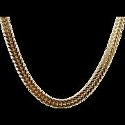14 karat Yellow Gold 18 inch, 3.7 mm wide Sturdy Franco Chain