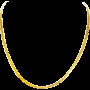 Elegant 14k Yellow Gold Herringbone Chain