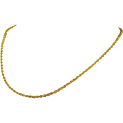 Delicate 14k Gold Rope Chain