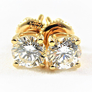 Dazzling 14k Gold Diamond Stud Earrings