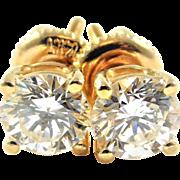 Dazzling 14k Gold Diamond Stud Earrings