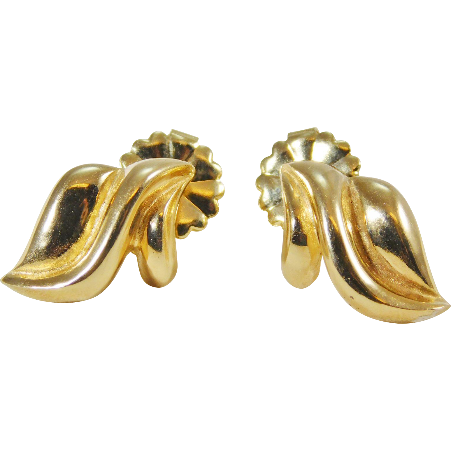 14 karat yellow gold stylish earrings from edbergjewelry