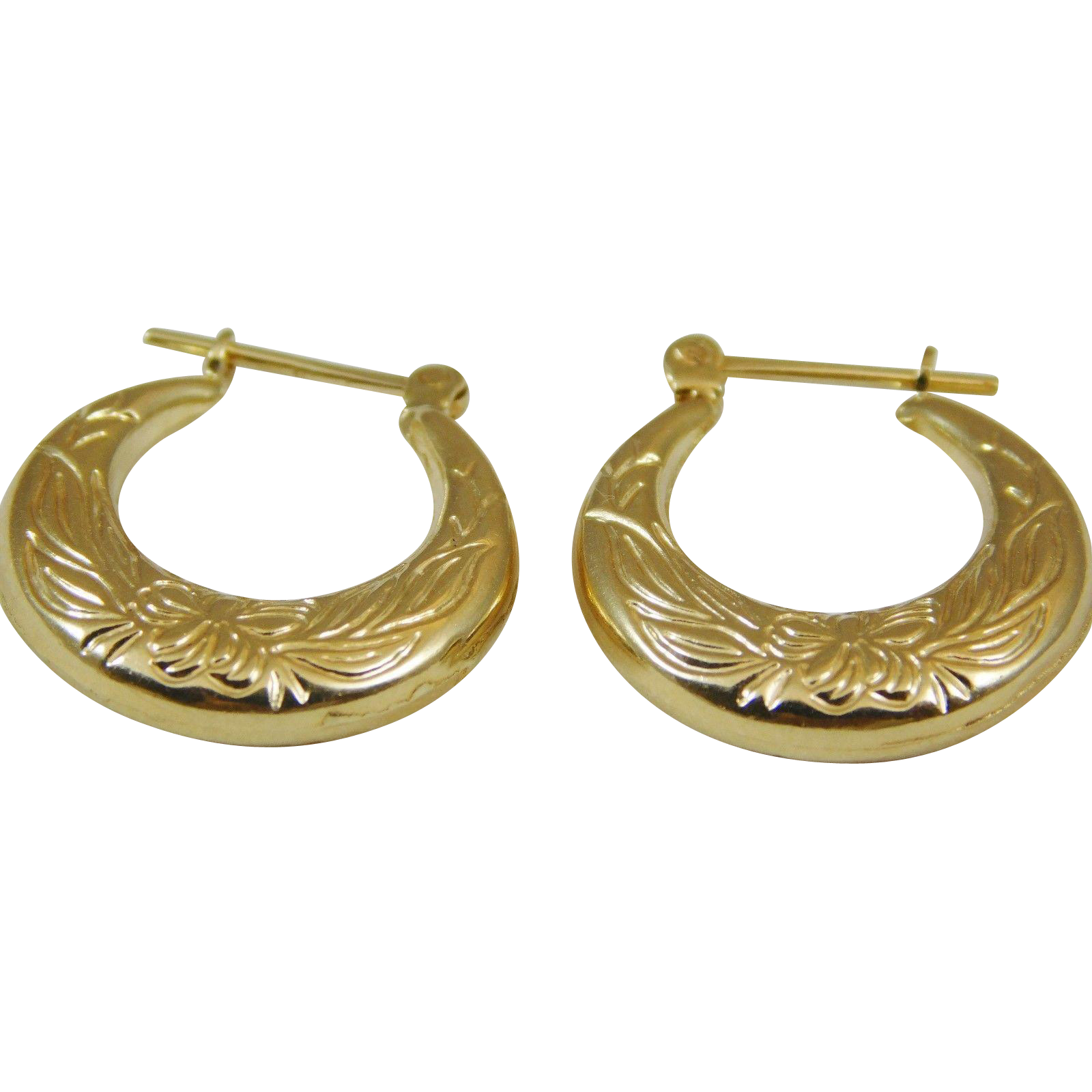 1 karat earrings 14 karat yellow gold small hoop earrings from 5326
