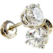 2.09tcw Diamond Stud Earrings