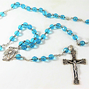 Beautiful Vintage Sterling Silver and Crystal Rosary