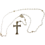 Beautiful Antique Silver and Crystal Rosary Beads