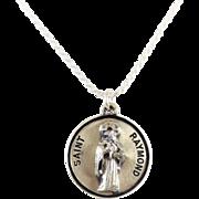 Vintage Sterling Silver Saint Raymond's Pendant