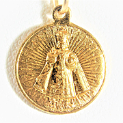 Vintage 10k Gold Miraculous Infant Jesus of Prague Medal