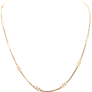 Italian Crafted 14k Gold 18-inch Designer Style Chain Necklace