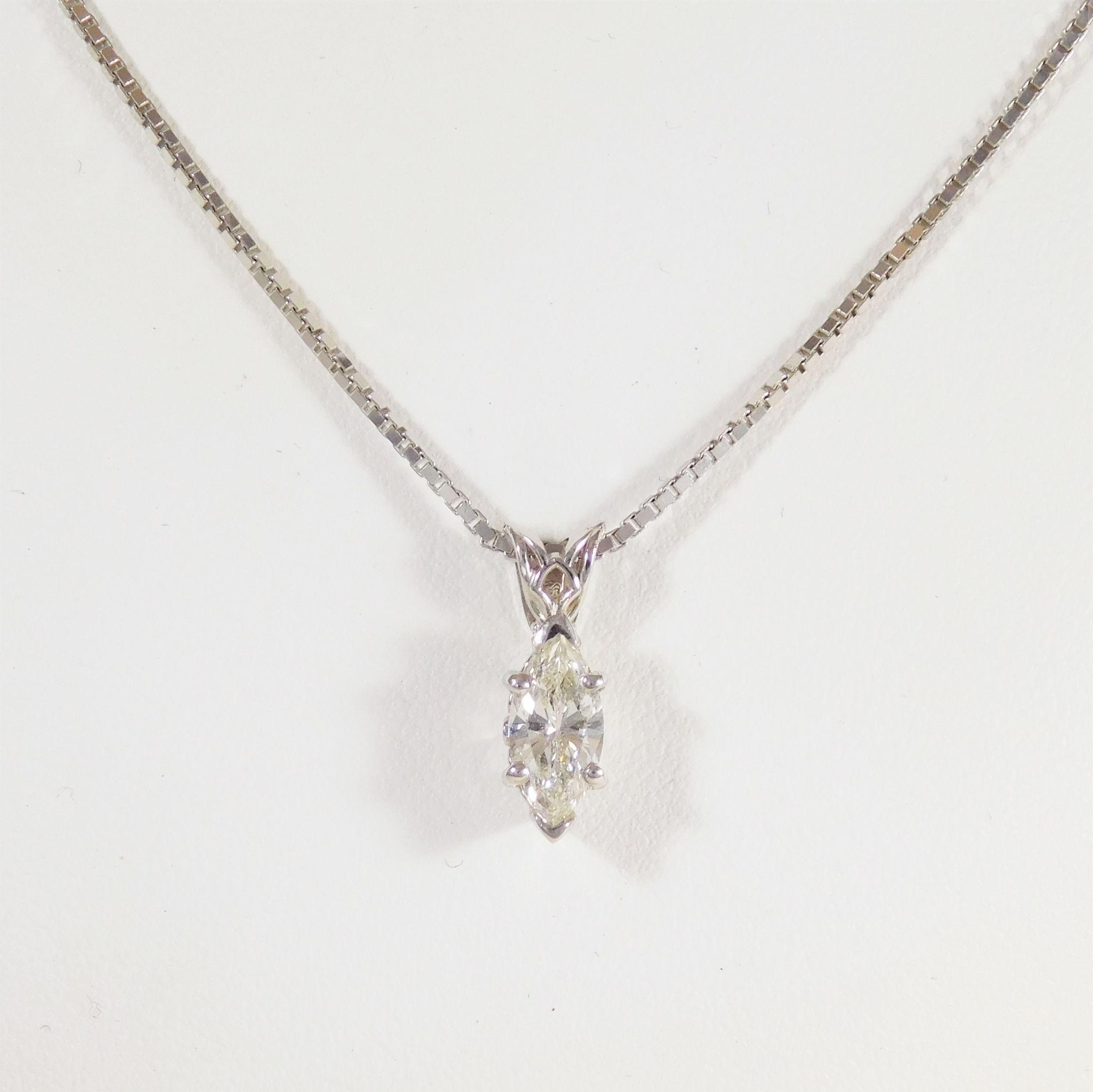 necklace diamond marquise halo pendant horizontal marquis