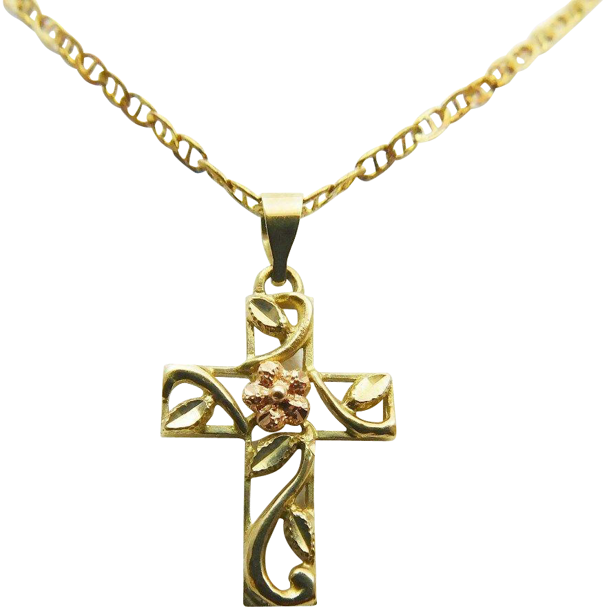 European estate and vintage gold crosses