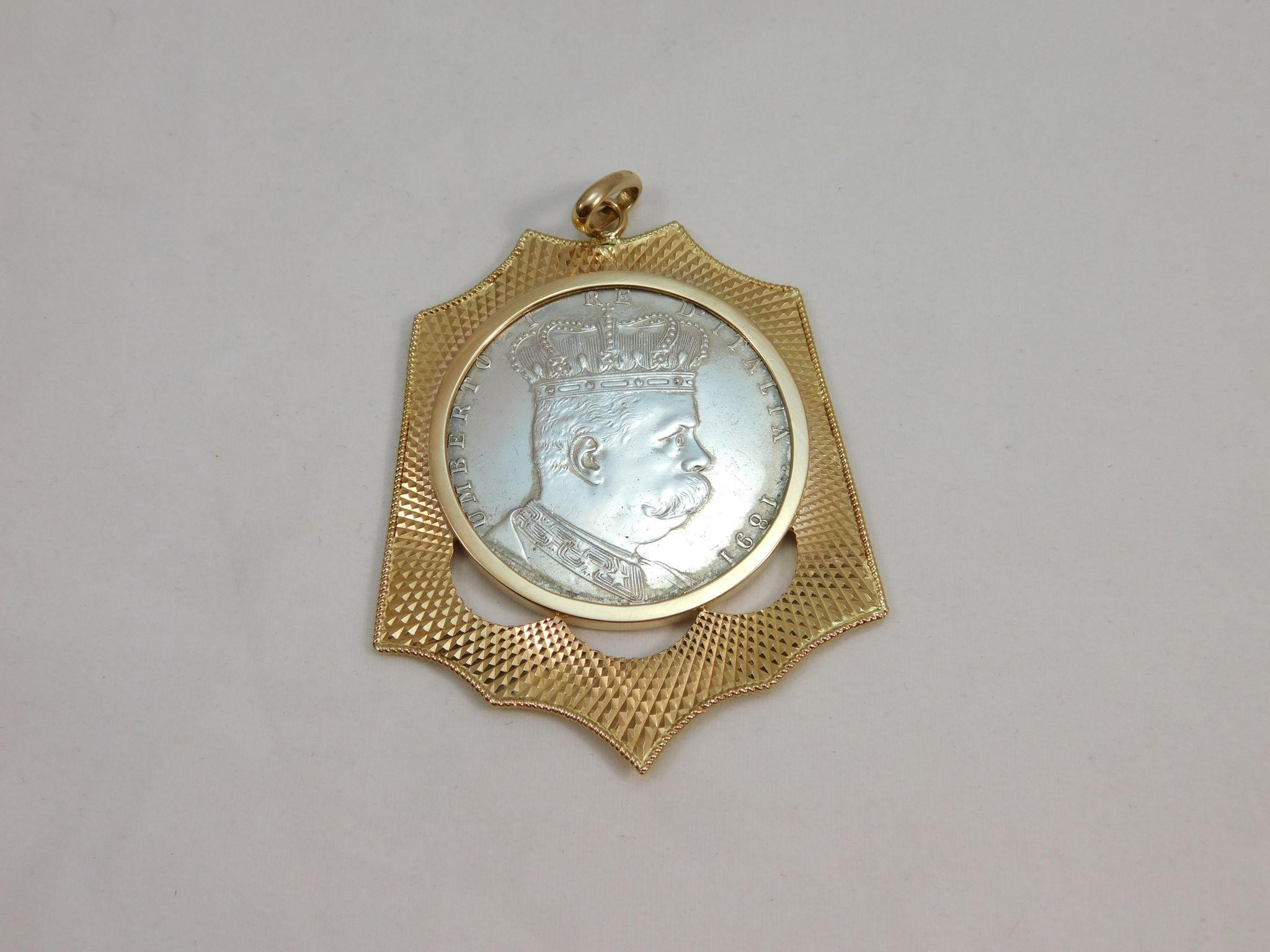 18 karat yellow gold coin holder and rare 1891 silver eritrea 1 18 karat yellow gold coin holder and rare 1891 silver eritrea 1 edberg jewelry ruby lane aloadofball Choice Image
