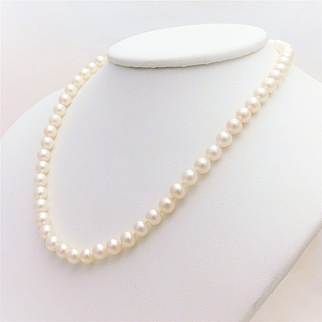 Mikimoto Pearl and Sterling Silver Necklace